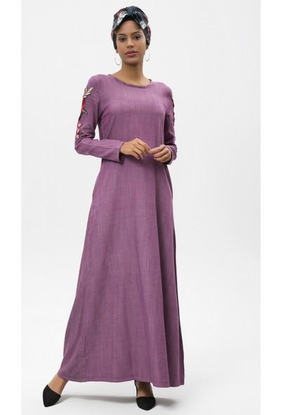 New Laviva Mürdüm Uzun Kadın Elbise
