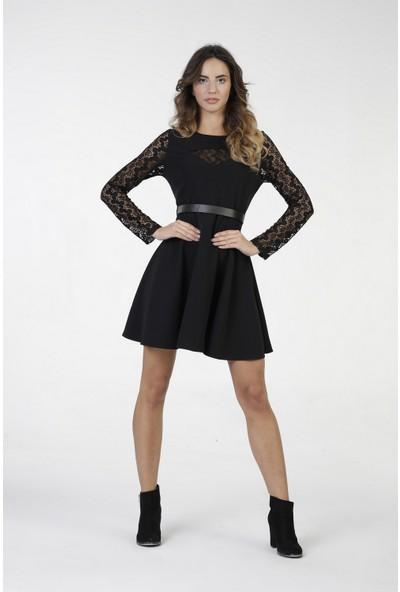 New Laviva Siyah Mini Kadın Elbise