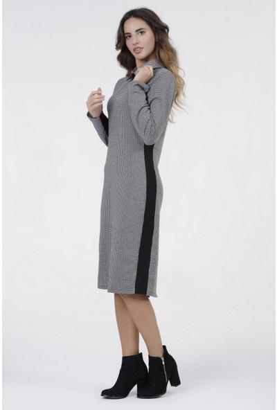 New Laviva Antrasit Garnili Diz Boyu Kadın Elbise