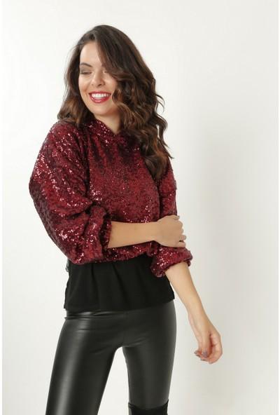 New Laviva Bordo Kadın Sweatshirt