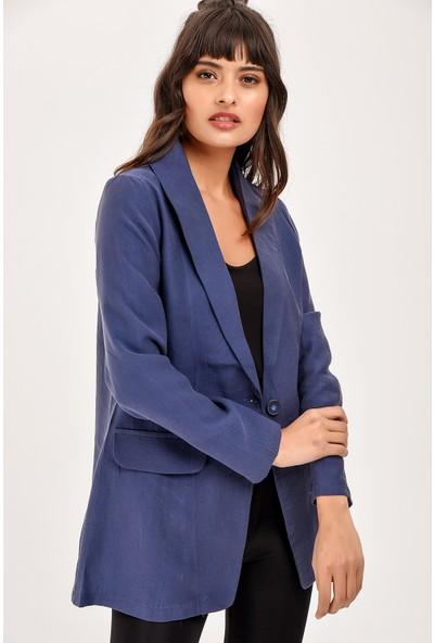 New Laviva İndigo Uzun Kollu Kadın Ceket