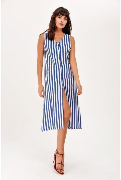 New Laviva Mavi Kadın Elbise