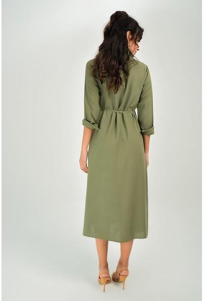New Laviva Haki Kadın Elbise