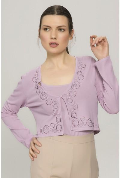 New Laviva Lila İkili Kadın Bluz Takım