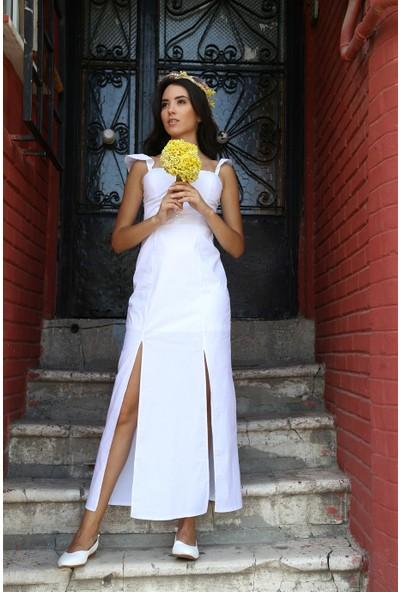 Her Mod'A Bir Moda Uzun Askılı Elbise