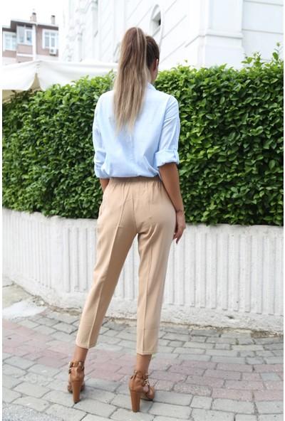 Her Mod'A Bir Moda Keten Gömlek