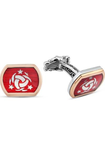 Silverplus Gümüş Teşkilat-ı Mahsusa Sembollü Kol Düğmesi