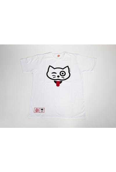 Kenan Ünsal Tasarımı Kedi Figürü İşlemeli T-Shirt