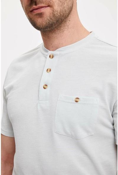DeFacto Düğmeli Kısa Kollu Tişört L4971AZ19SM