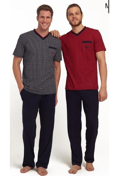 Mod 3107 Erkek Pijama Takımı Bordo