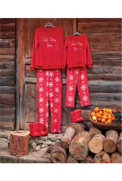 Penye Mood 8417 Kız Çocuk Pijama Takımı Kırmızı