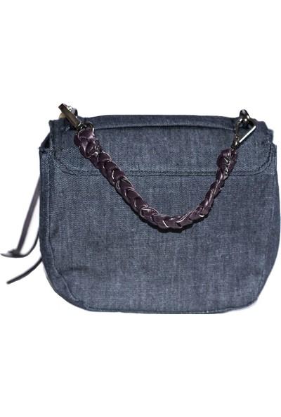 Kavshak Kot Gül Detaylı Mini Çanta