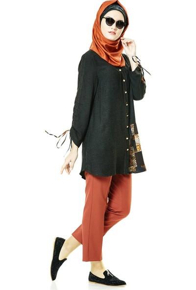 Famelin Cep Detaylı Pantolon-Kiremit 1516-1-58