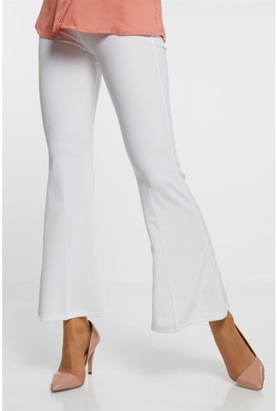 Kyl Collection Pantolon-Beyaz 2681-02