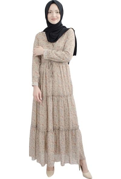 Arda New Line Kadın Bej Elbise 3304191-11.55