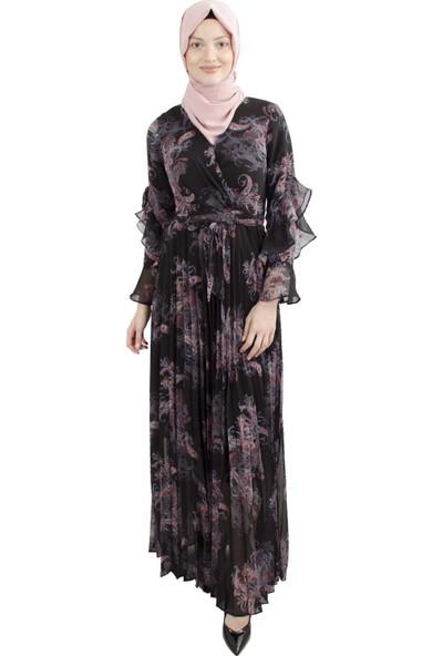 Arda New Line Kadın Siyah Elbise 3304213-10.01