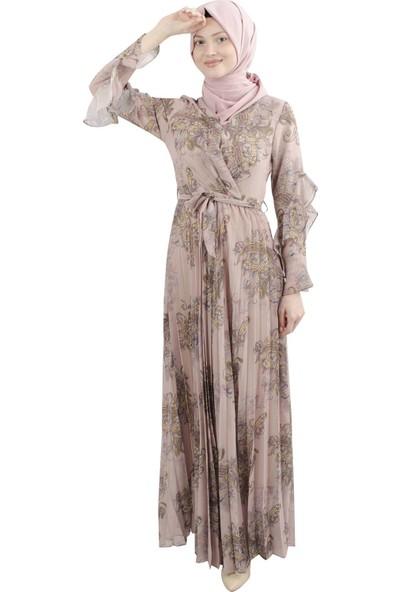 Arda New Line Kadın Pudra Elbise 3304213-10.79