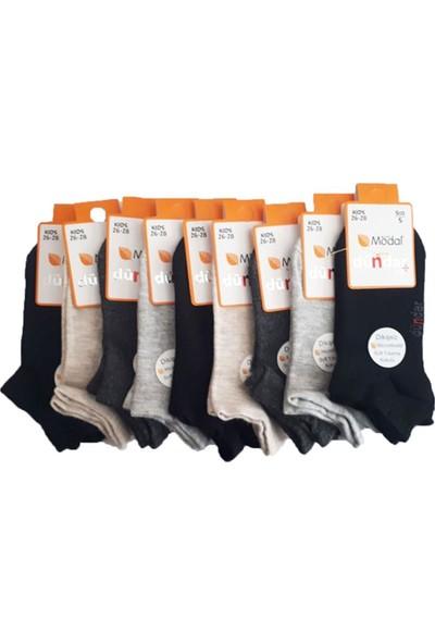 Dündar Erkek Çocuk Modal Dikişsiz Patik Kısa Çorap 12 li paket