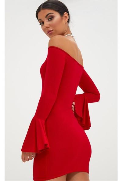 JT İspanyol Kol Dar Mini Elbise