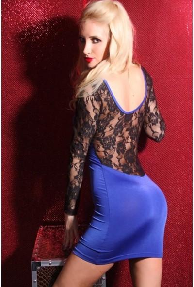 JT Dantelli Seksi Mini Elbise 101212