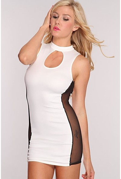 JT Kontras Transparan Elbise 101218
