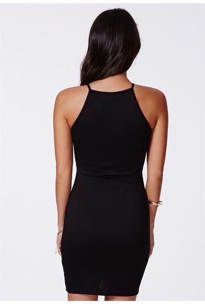 JT Yırtmaçlı Likralı Elbise 101244