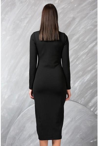 JT Yırtmaçlı Uzun Elbise 101315