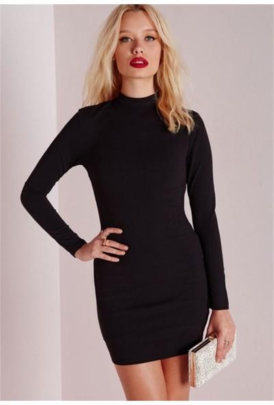 JT Uzun Kollu Dalgıç Mini Elbise 101336