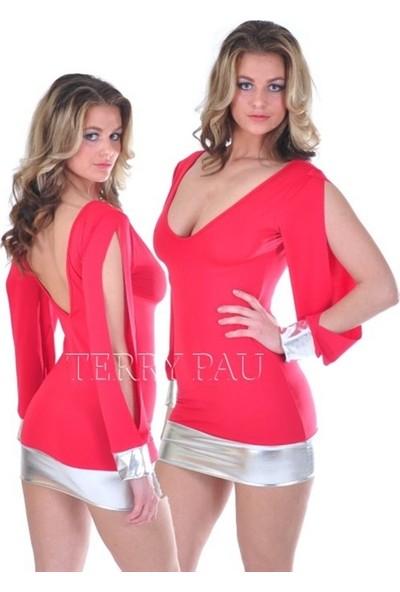 JT Açık Kollu Mini Elbise 112118