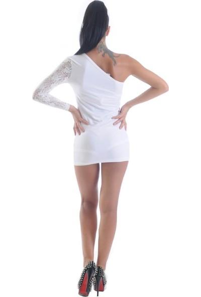 JT Dantel Tek Kol Mini Elbise 1961351
