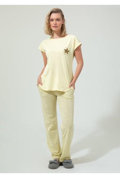 Dagi Kadın Pijama Takımı Sarı