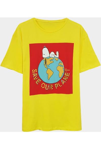 Coten Concept Save Planet Baskılı T-Shirt