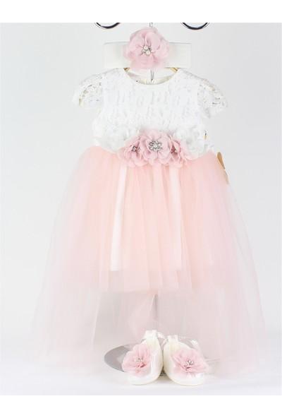 Lilipoupee 0-6 Ay Kız Bebek Abiye Melüt Elbise Seti