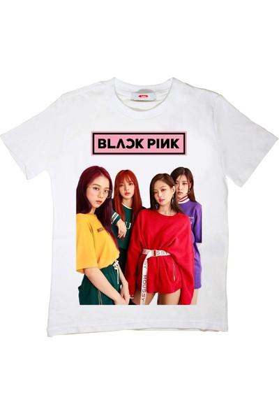 Blackpink Çocuk T-Shirt Beyaz Unisex