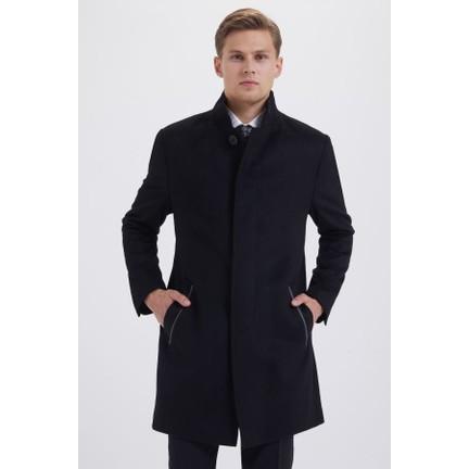 f1fa0ec320092 Hatemoğlu Siyah Düz Palto Fiyatı - Taksit Seçenekleri