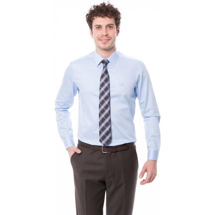 946b7305617e9 Çift Geyik Karaca Erkek Slim Fit Klasik Gömlek A Mavi Fiyatı