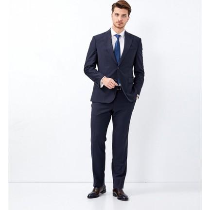 145478cc07823 Çift Geyik Karaca Erkek Slim Fit 4 Drop Klasik Takım Elbise Lacivert