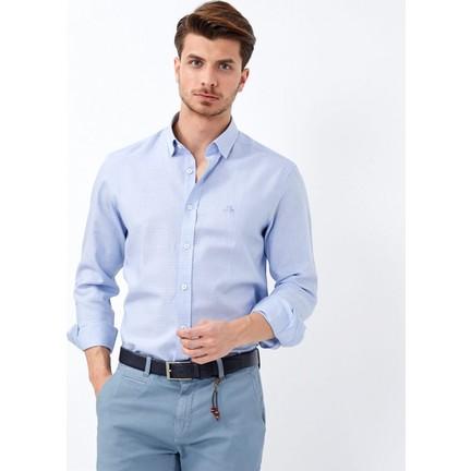120b8a2514232 Karaca Erkek Slim Fit Klasik Gömlek A Mavi Fiyatı
