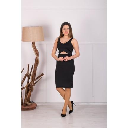 416eeebc4c1d2 Barevsu Scuba Kumaş Etek Büstiyer Takım Kadın Abiye Elbise Fiyatı