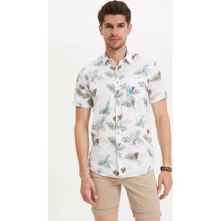 5fce544006e62 Defacto Erkek Kısa Kollu Çiçek Desenli Gömlek Fiyatı