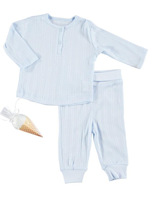 Baby Corner Bebek Dino 3'lü Pijama Takımı