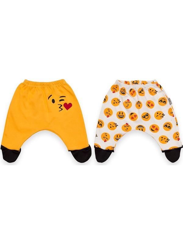 Babycool Emojili 2'li Bebek Pantolonu 39002
