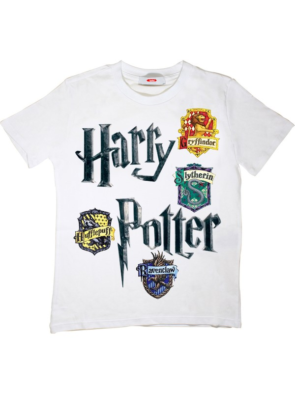 Harry Potter Çocuk T-Shirt Beyaz Unisex