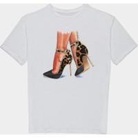 Coten Concept Kadın Ayakkabi Baskılı T-Shirt