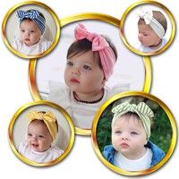 Babygiz Fiyonk Detaylı Bebek 5'li Bandana Seti