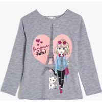 Koton Kız Çocuk Yazılı Baskılı Sweatshirt