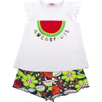 Tuc Tuc Kız Çocuk Karpuz Baskılı T-Shirt Şort Takım Tuti Fruti