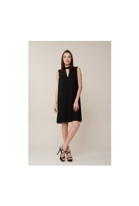 GIZIA Siyah Pilise Elbise