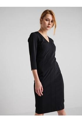 GIZIA Siyah Midi Elbise