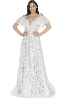 b61e15b0acd88 Beyaz Abiye Elbise Modelleri ve Fiyatları & Satın Al - Sayfa 4
